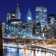 Night scene of New York City