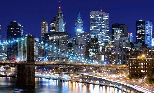 Night scene of New York City