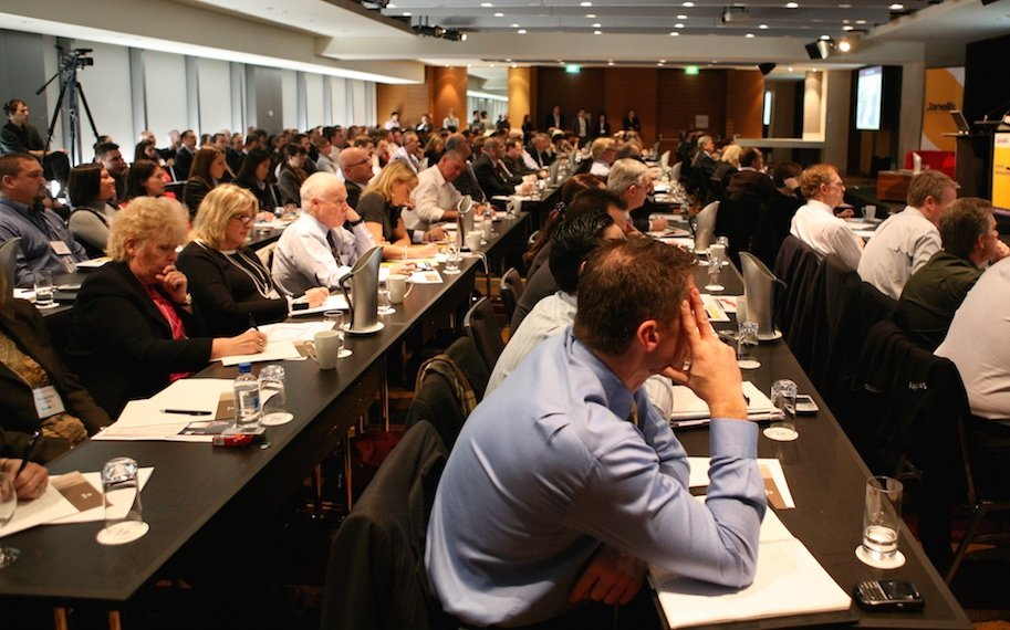 Captive audience of executives at Janellis Crisis Management Summit