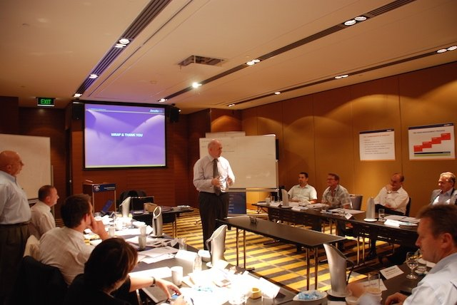 General Peter Cosgrove running organisational resilience workshops with executive team
