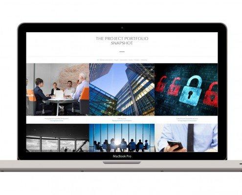 Image of Janellis Project Portfolio Snapshot Tool on laptop