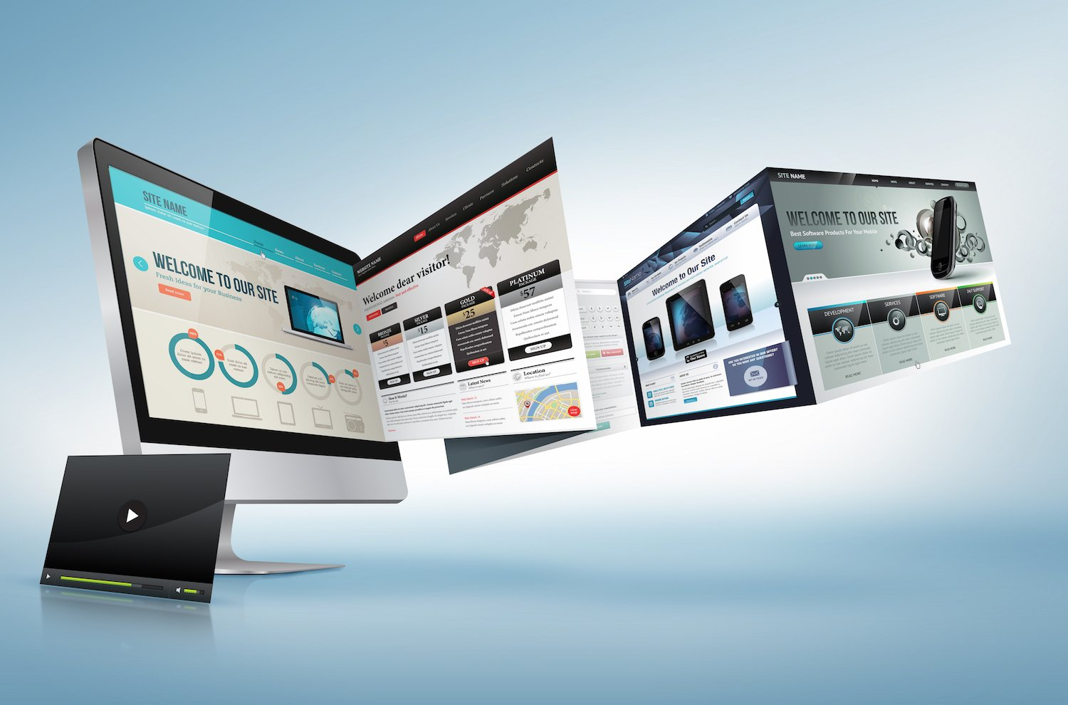 Examples of digital platforms - graphic