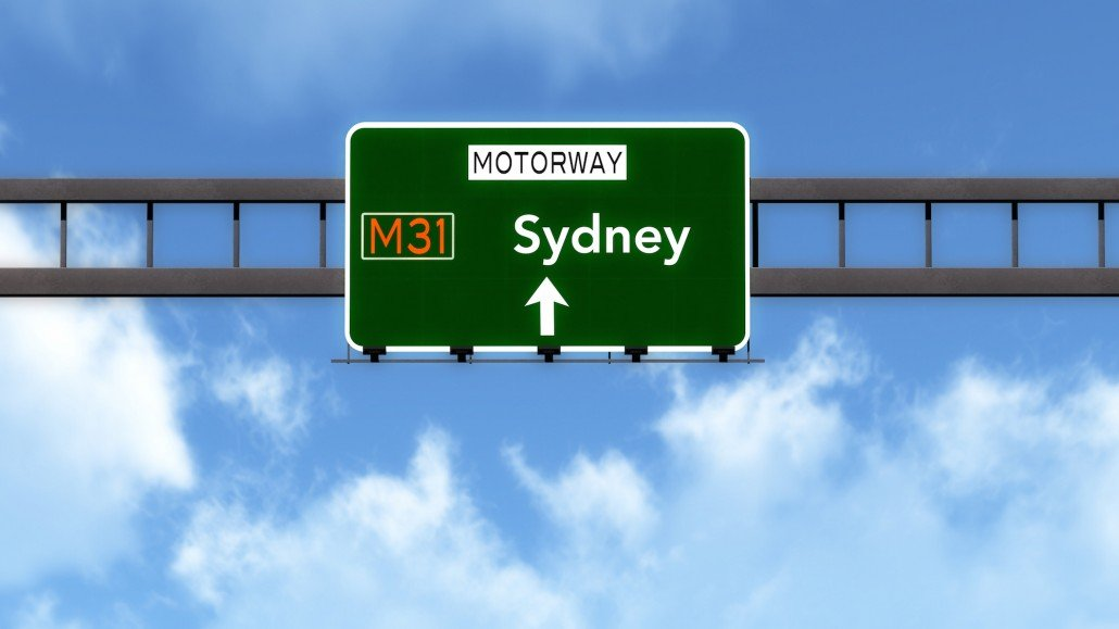 Sydney motorway sign